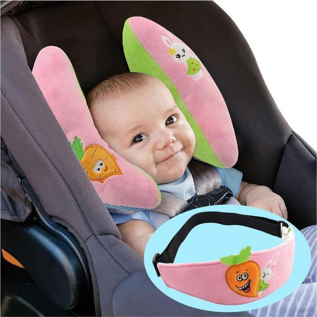 Baby PP Cotton Neck Pillow Mesh Lining Car Seat Head Protection Care Newborn Banana