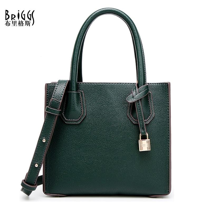 BRIGGS Brand Fashion Women Handbag High Quality PU Leather Bag Female Tote Bag Ladies Messenger Bag Solid Shoulder Bag For Women