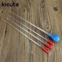 Kicute Modern Glass Transfer Scale Pipette With Rubber Cap Dropper 4 Size