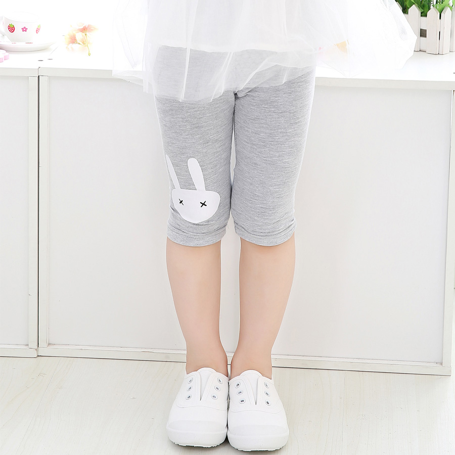 SheeCute Girl Lovely Summer  Velvet Cropped Pants calf-length girls leggings print  girls pants childrens trousers