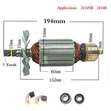 AC220 240V 7 Răng Shaft Drive Điện Búa Thép máy cắt rotor 355 cho Makita 2414NB 2414B 516563 1 516564  9
