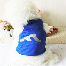 Dog Clothes Print Cartoon Pattern Pet T-Shirt Clothing Summer Breathable Vest for Dogs clothes yorkies