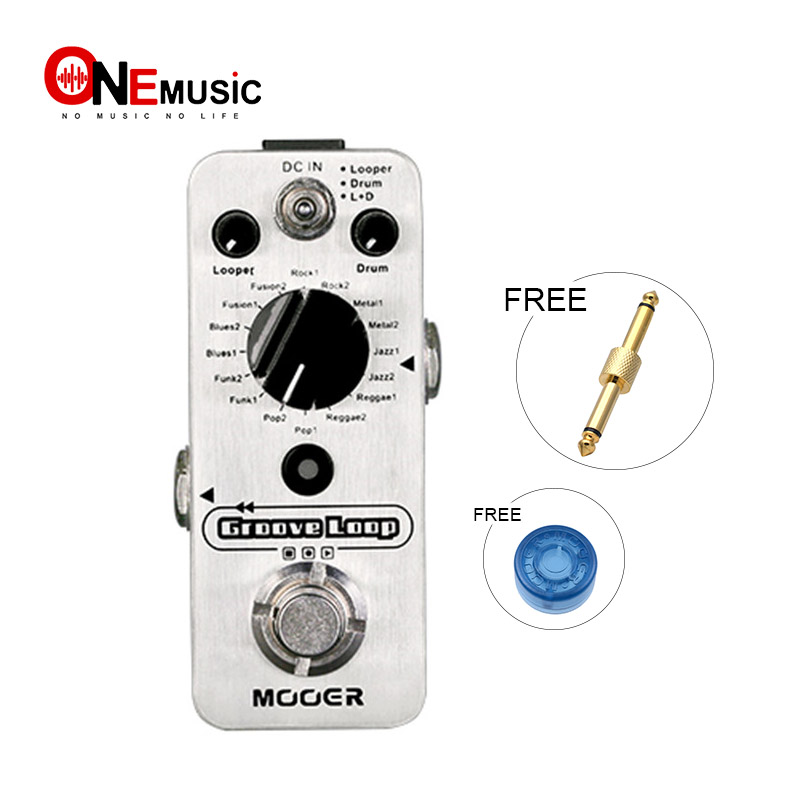mooer groove loop drum machine and looper pedal in one pedal silver in guitar parts. Black Bedroom Furniture Sets. Home Design Ideas