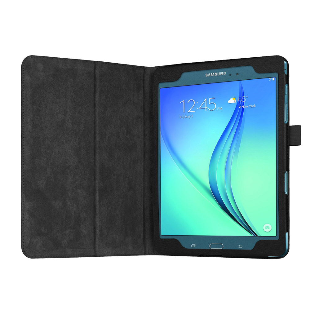 Luxury Case For Samsung Galaxy Tab A 9.7Inch SM-T550 SM-T551 SM-T555 SM-P550 P555 Case Lichee Style PU Leather Stand Cover