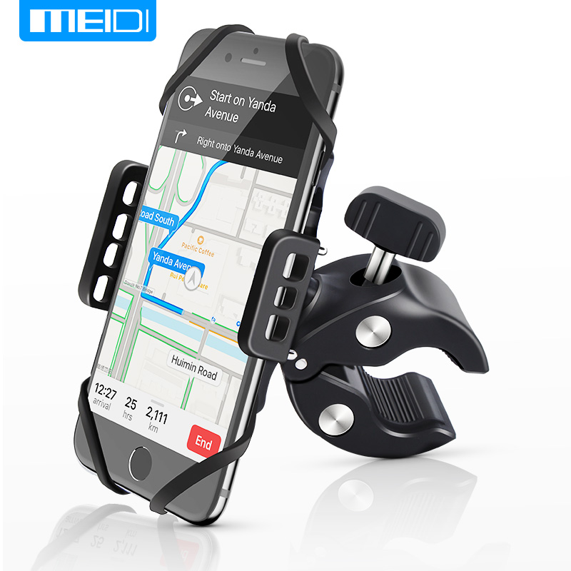MEIDI Motorcycle Phone Holder Bicycle Cell Phone Stand Mount For iPhone 6s7 7Plus 8 X Plus Samsung LG Support Navigation GPS