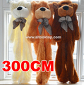 300CM unfilled giant teddy bear skin bulk 3M empty Teddy bear shell plush toy coat Valentine's Day birthday gift kids life size
