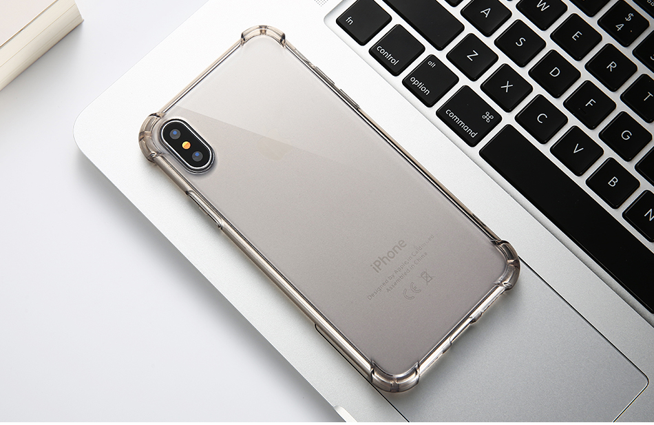 Anti-knock Clear Silicon Shockproof Cover with TPU iPhone Case 13