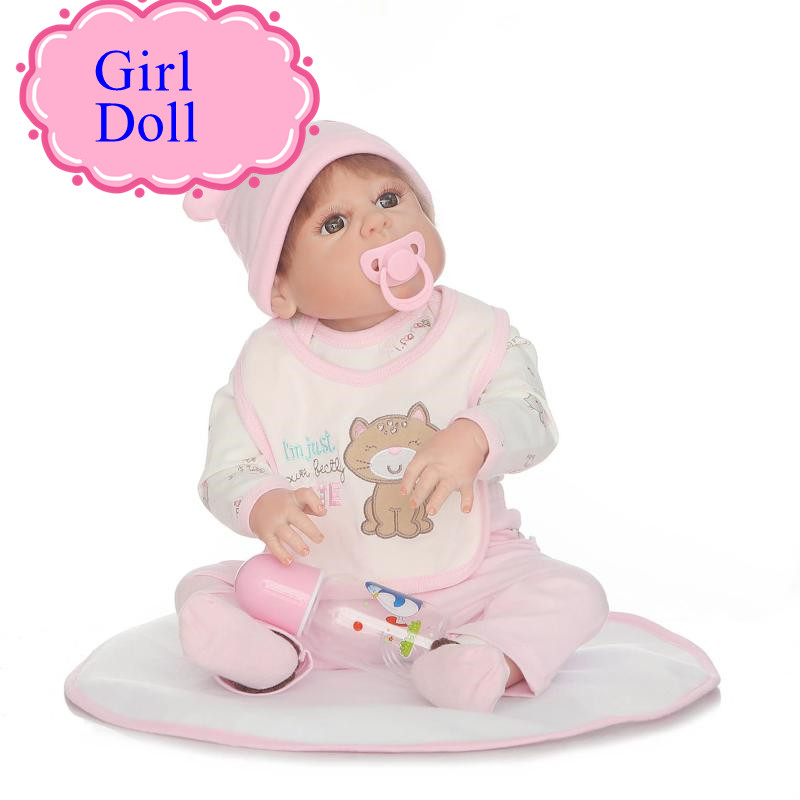 NPK Latest Full Silicone Bonecas Bebe Reborn Dolls With Magnetic Pacifier 22inch Newborn Babies Doll As Gift For Girl Brinquedos new arrival 18inch doll npk american sweet girl with curly long hair in floral skirt dress bonecas bebe kids gift brinquedos