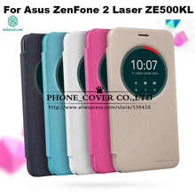 Nillkin Sparkle Series кожаный чехол для Asus Zenfone 2 Laser ZE500KL 5.0 телефон чехлы для ASUS ZE500KL чехол + Розничная продажа Упаковка