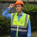 new mesh High Visibility Reflective Safety Vest , Chaleco Reflectante Amarillo Polyester Lote Seguridad for Dark Night Working