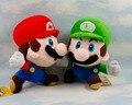 Бесплатная доставка 2 шт./лот Super Mario Bros Плюшевые Игрушки 6.5 ''17 см Запуск Nintendo Марио Луиджи Мягкие Плюшевые куклы 2 Стили