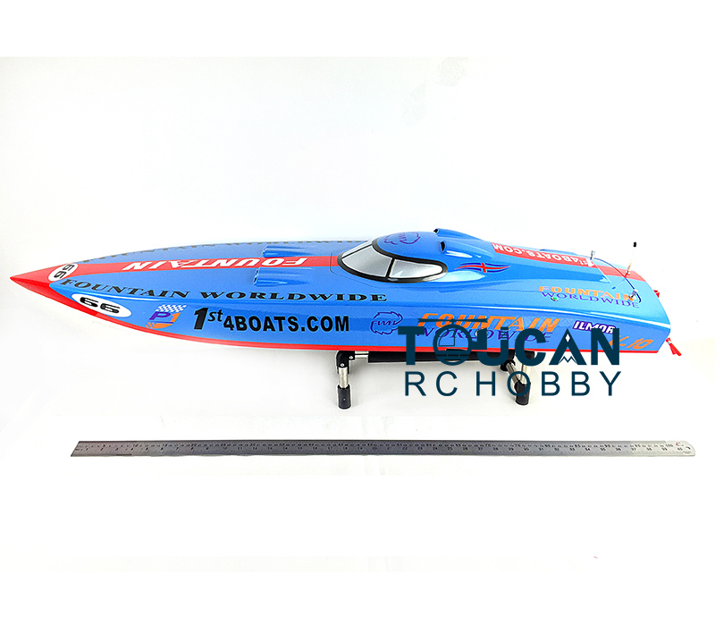 G26IP1 ARTR Gasoline 26CC-Clutch Engine RC Racing Boat Deep-V Shaft Rudder Blue free shipping beryllium copper 3 blades boat paddle propellers fit for rc 26cc 30cc gasoline boat racing boat diameter 67mm 70mm