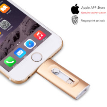 Eaget 3 in 1 OTG USB Flash Drive 32GB/64GB/128GB Pendrive Metal Pen 256GB for iPhone X/8/7/6 Plus Memory Stick