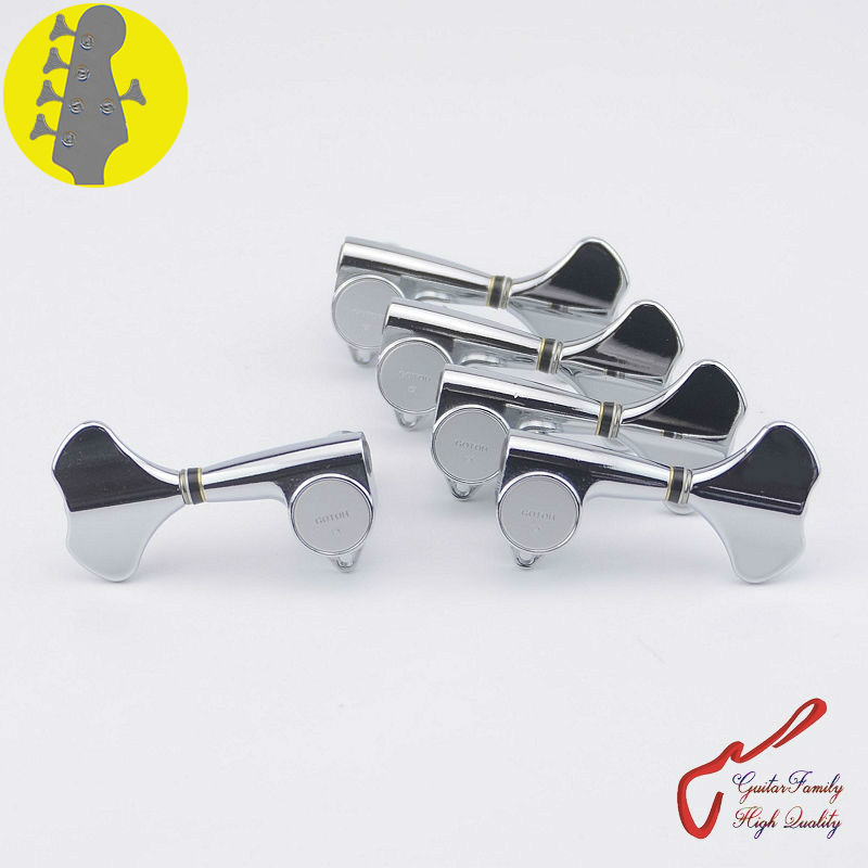 Original Genuine 4 1 GOTOH GB707 5 Strings Electric Bass Machine Heads Tuners Chrome MADE IN