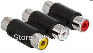 3pcs RCA Adapter 3 RCA Jacks To 3 RCA Jacks Coupler