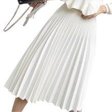 Pleated Skirt High Waist