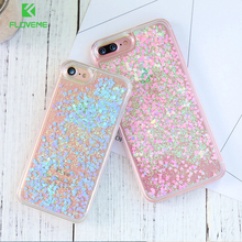 FLOVEME Liquid Case For iPhone 6 6S 7 8 Plus Case Ultra Crystal Clear Girly Cover For iPhone 6 6S Plus 5 5S SE 4S
