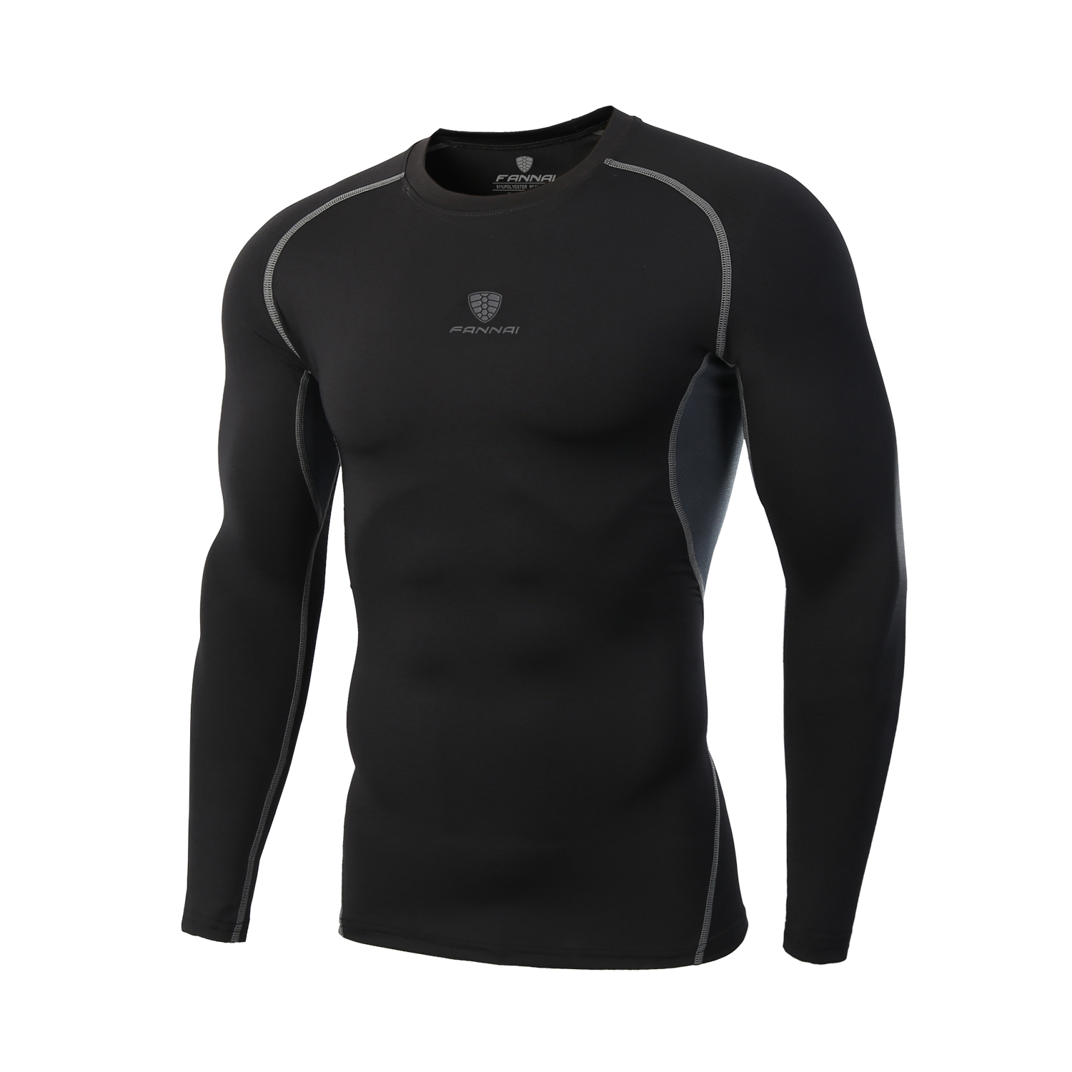 Mens Compression Running T Shirts Bodybuilding Skin Tight Long Sleeves Jerseys Clothing Exercise Workout Fitness Sportswear