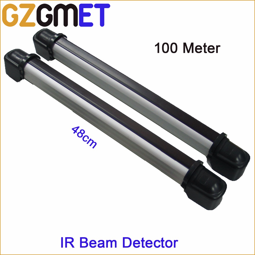 100 Meter IP65 Outdoor 2 Beams 48cm Height Infrared ...