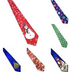 Рождественские украшения Для мужчин модные Санта Клаус Лось галстук с принтом вечерние декор для костюма