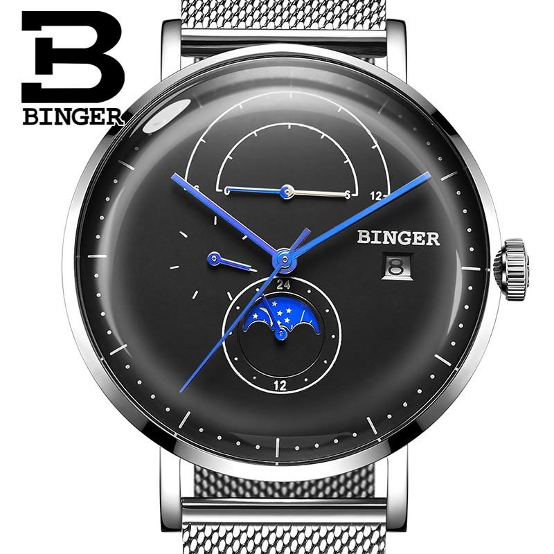 Switzerland BINGER Men Watch Luxury Brand Automatic Mechanical Mens Watches Sapphire Male Japan Movement reloj hombre B8610-4 switzerland binger watch men 2017 luxury brand automatic mechanical men s watches sapphire wristwatch male reloj hombre b1176g 6