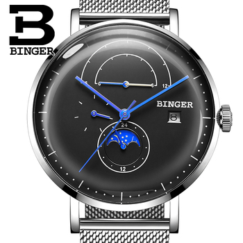 Switzerland BINGER Men Watch Luxury Brand Automatic Mechanical Mens Watches Sapphire Male Japan Movement reloj hombre B8610-4