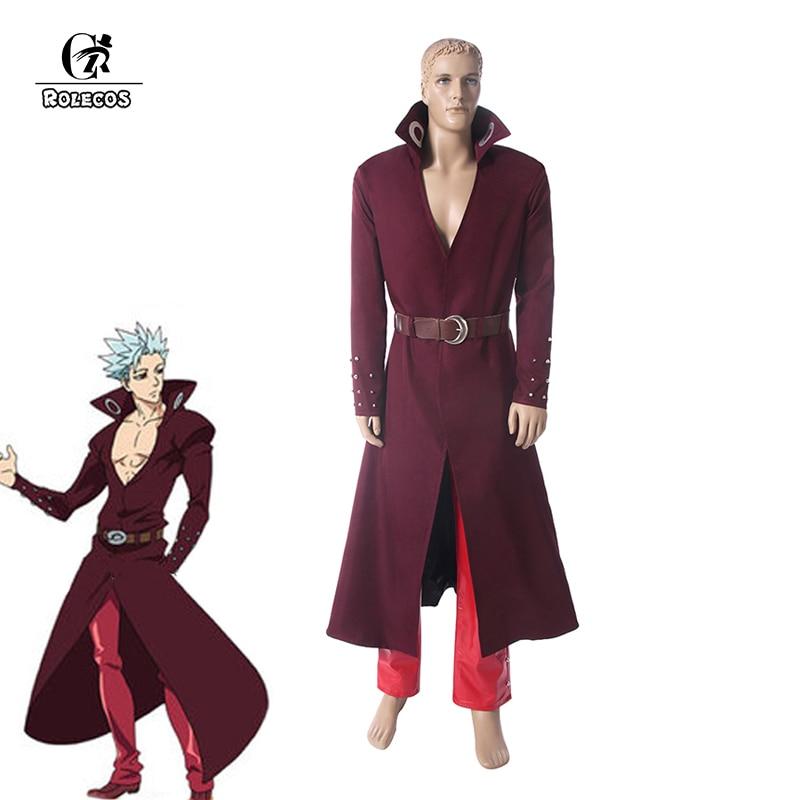 ROLECOS Ban Cosplay Seven Deadly Sins Cosplay Costume Fox's Sin of Greed Nanatsu no Taizai: Imashime no Fukkatsu Costume For Man