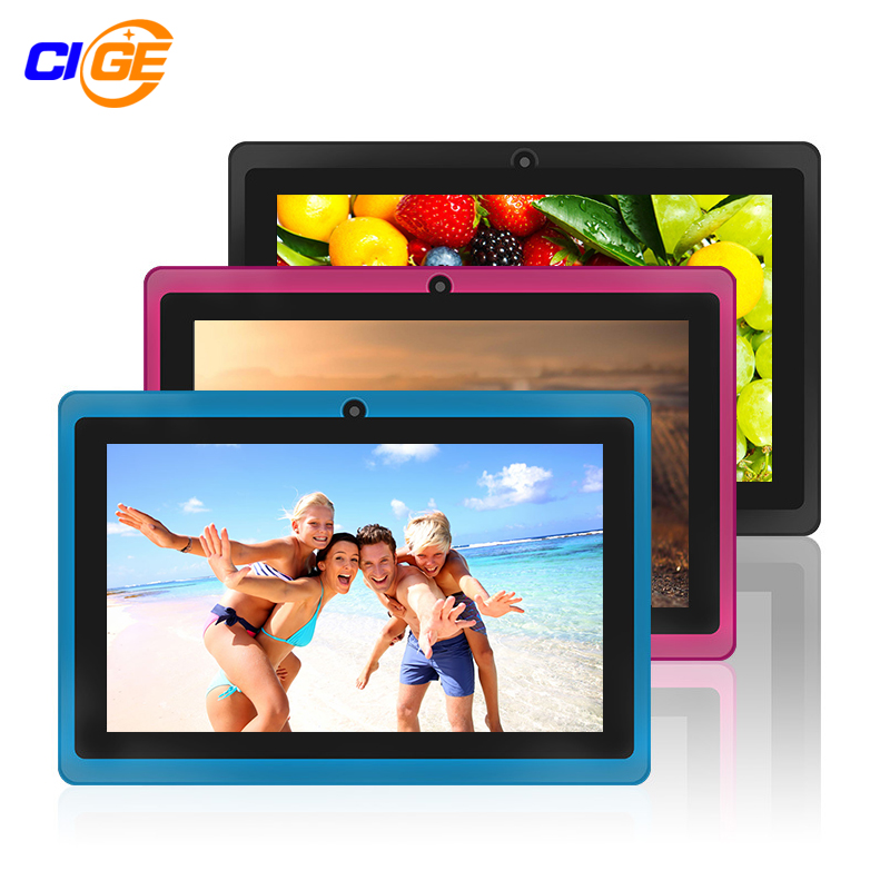 CIGE Q88 7″ the Tablet PC Quad Core Android 4.4 Tablet 8GB ROM Dual Cam Google APP Play USB WIFI Multi-colors Hot