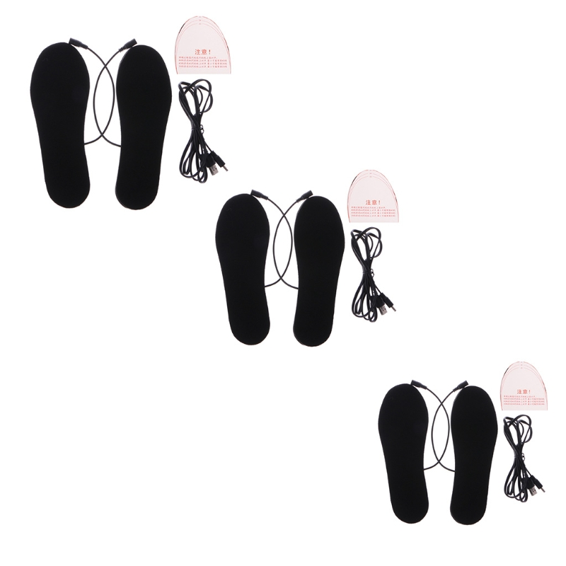 Electric Insoles USB Heated Shoes Rechargeable Cutter Warm Keep Boots Powered