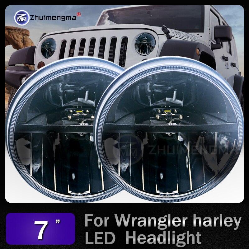 7 дюймов Круглый 30 Вт светодиодный фар H4 бездорожью свет для Jeep Wrangler JK 7 фары для wrangler TJ LJ JK, CJ-7, CJ-8 скремблер