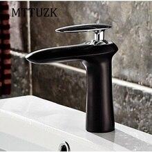 MTTUZK Бесплатная Доставка нефти потер бронзовый ванная комната горячая и холодная вода бассейна кран одной ручкой на одно отверстие небольшой локомотив кран