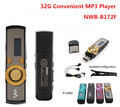 Ventas al por mayor!! nuevo 32 GB Reproductor de MP3 Popular 172 pantalla digital USB Reproductor de música MP3 Con Clip 5 Colores Flash Drive el Envío Libre gratis
