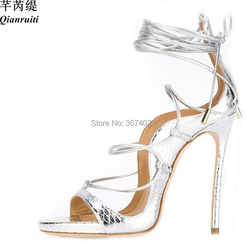 9769b066c3 Qianruiti 2018 Bridal Wedding Silk Sandals Flower Crystal High Heels ...