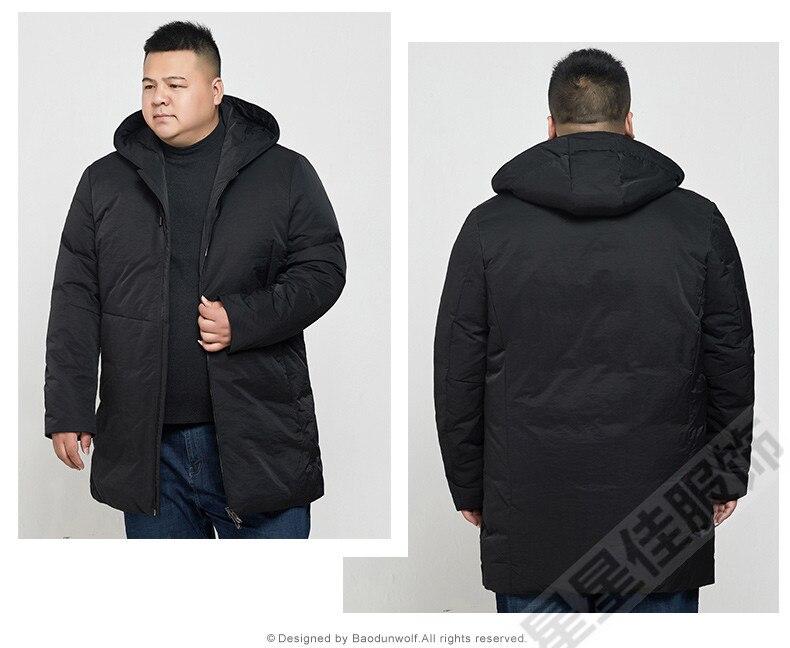 Mâle 8xl Vers 10xl Long Chaud Veste gris 9xl Bas D'hiver Parka Hiver Hoodies 6xl Noir Le Doudoune Épais Marque Manteau Hommes 1wzF5xawq