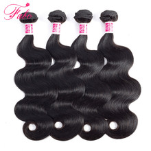 FABC Hair brazillian hair bundles body wave 4 bundles human hair weave natural color non  Remy Hair Extensions