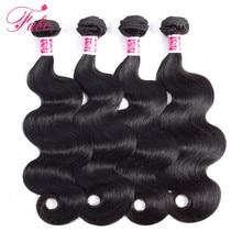 FABC mechones de pelo brasileño ondulado, 4 mechones de cabello humano ondulado, extensiones de cabello no Remy de color natural