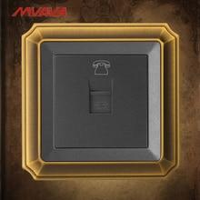 MVAVA RJ11 TEL Telephone Jack Plug Port Wall Socket TEL Receptale Luxucy Bronzed Panel Free Shipping tel 06 1m wh