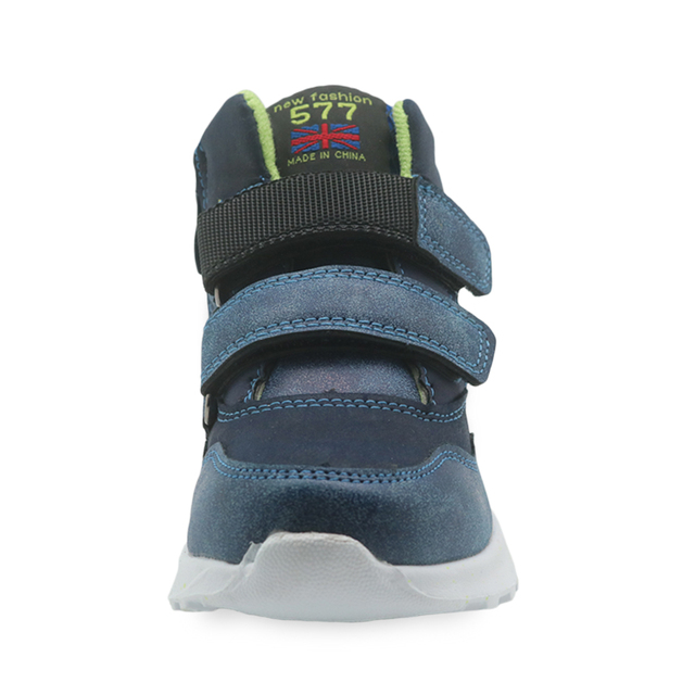 Apakowa Spring Autumn Boys Shoes Pu Leather Ankle Boots for Little Kids Patched Children's Shoes New Flat Sneaker EUR 27-32
