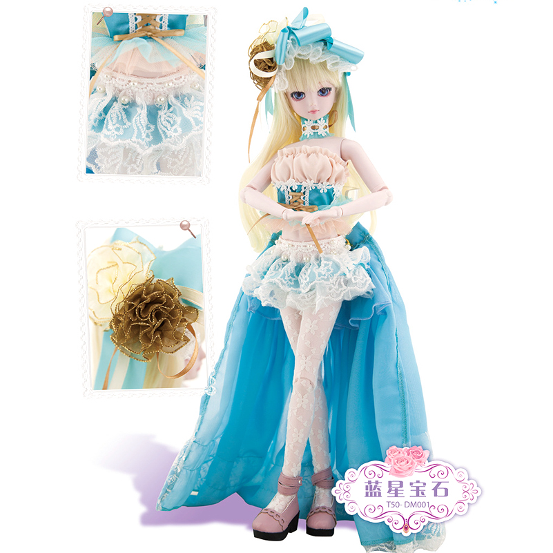 Fashion 50cm Large BJD Doll Alice Toys Cosplay Rapunzel Dress Clothes Shoes Fairy SD Doll Princess Resin Joints Toys For Girl 1 3rd scale 65cm bjd nude doll bazael bjd sd doll boy with face up not included clothes wig shoes and accessories