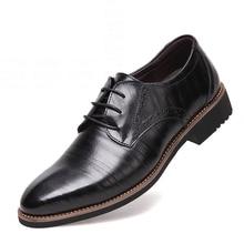 Split Leather Mens Dress Shoes High Quality font b Oxford b font Shoes For Men Lace