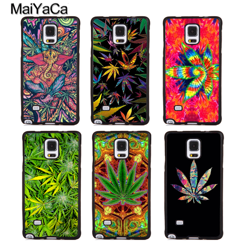 MaiYaCa Weed Leaf Leaves Green Elephant Soft Rubber Phone Cover For Samsung Galaxy S5 S6 S7 S8 S9 edge plus Note 4 5 8 Back Case
