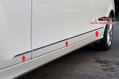 Chrome door Side Molding trim For Mercedes Benz C CLASS 4Door W204 2008 2013