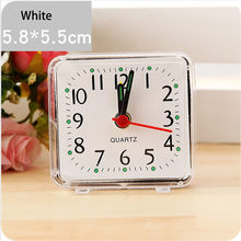 Student's Alarm Clock Square Small Bed Compact Travel Quartz Beep Alarm Clock Cute Portable Creative Fashion Clock Dropshipping(China)
