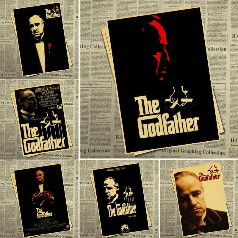 Godfather poster retro poster movie poster wall sticker home decoration retro poster home wall decoration