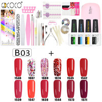 #70322 2017 Newest venalisa brand nail art DIY design 5ml*12 pcs nail gel polish lacquer gel start learner diy kit