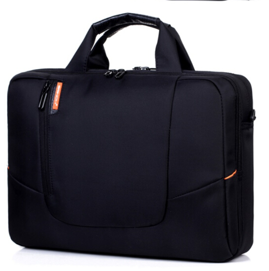 Soft Nylon Waterproof Laptop Case With Side Pockets Sholder Bag For Notebook Computer 14 15 Laptop Bag free shipping free shipping nylon pure black color soft backpacks storage bag for shoes and clothing with drawstring closure zz225