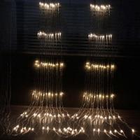 EU Plug 3X3M 320LED Waterfall Icicle Curtain LED String Holiday Light Christmas Wedding Meteor Shower Rain LED String Light