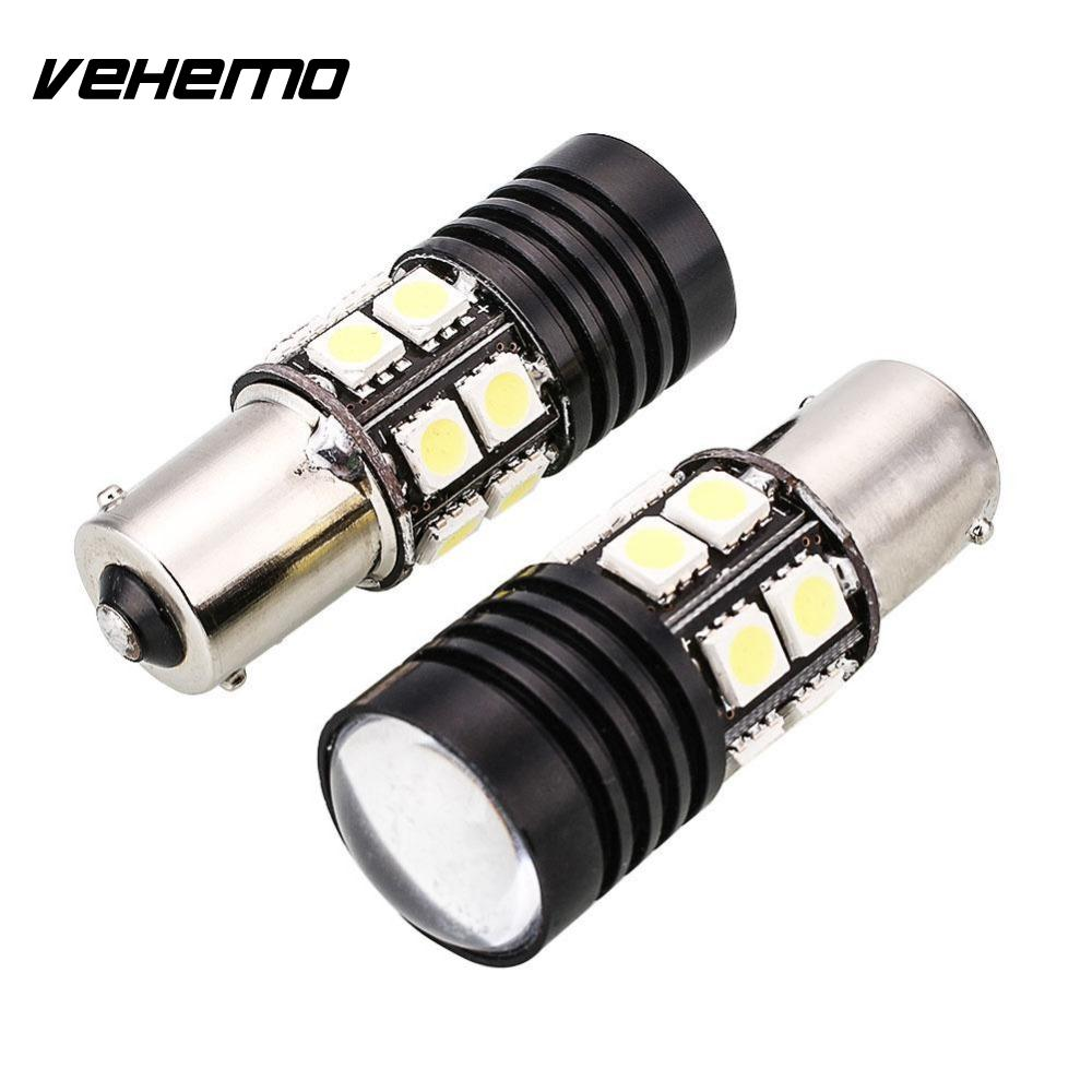 Vehemo 2Pcs Canbus No Error 1156 BA15S P21W LED Auto Car Tail Backup Light Bulb White