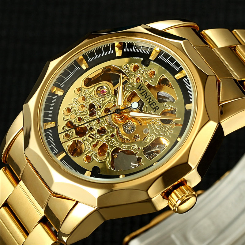 Winner New Brand Luxury Wristwatches Men Skeleton Automatic Mechanical Male Watch Fashion Causal Man Watch Relogio Masculino 2017 winner top brand luxury blue men watch automatic skeleton mechanical wristwatch male man watches hour relogio masculino