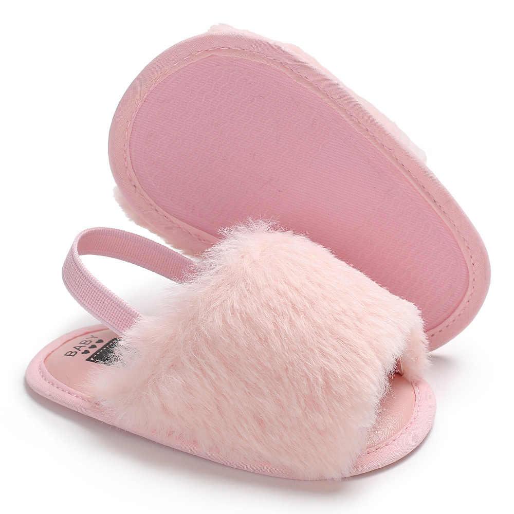 Moda novas cores da pele do falso do bebê meninas chinelos de fundo macio bonito infantil sandálias do bebê sapatos 0-18 m